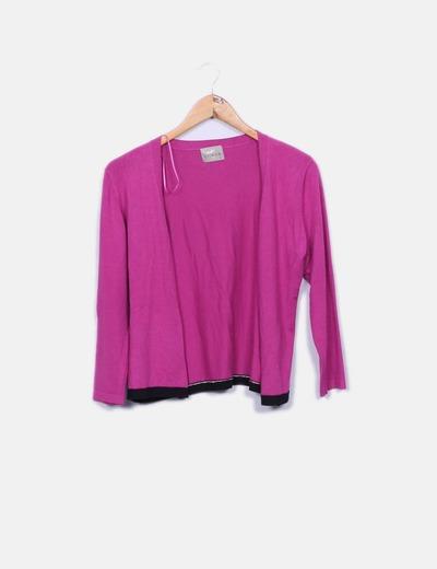 Suéter rosa de punto Crisys