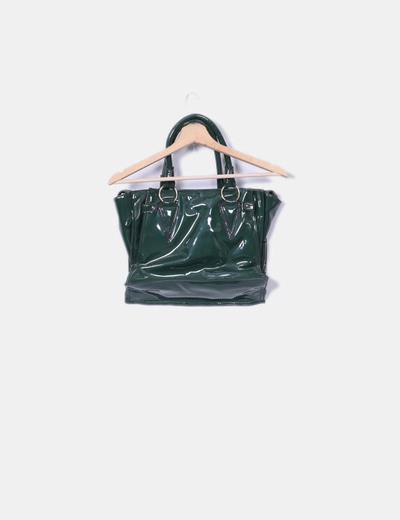 Bolso verde charol combinado