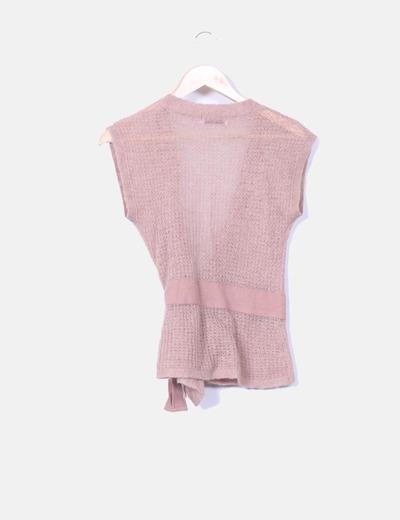 Torera tricot color rosa palo