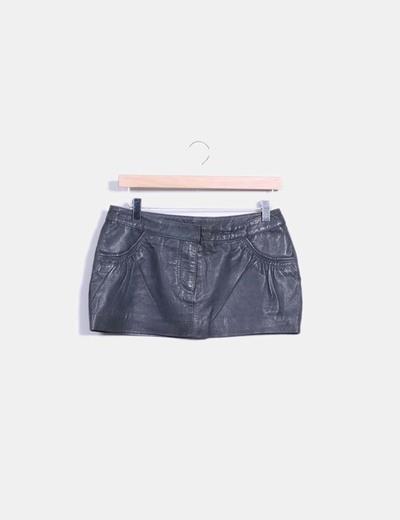 H m mini falda cuero gris descuento 42 micolet for Ariadne artiles medidas