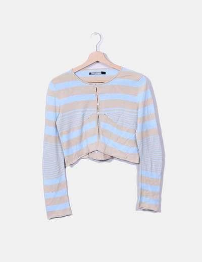 Conjunto cáridigan y camiseta de punto a rayas Le Jean de Marithé