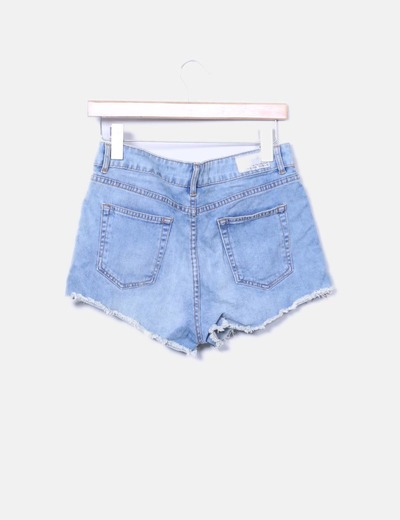Shorts denim azul claro
