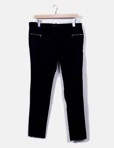 Pantalon negro pitillo Zara