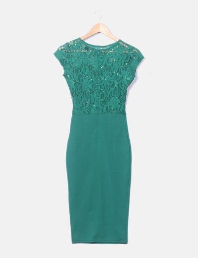 Vestido verde agua asos