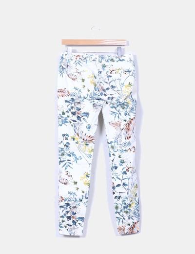 Pantalon de pinzas estampado floral