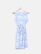 Vestido azul y blanco estampado Antea