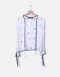 Blusa escote pico estampada Zara