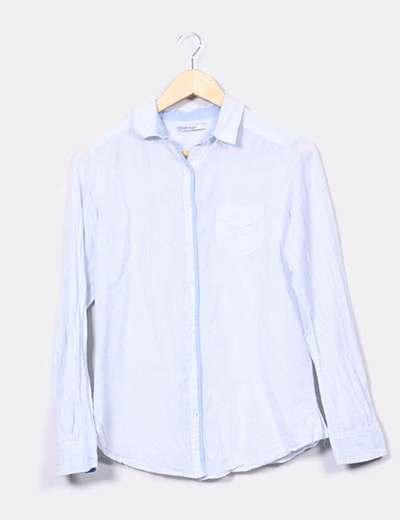 Blusa blanca rayas  Stradivarius