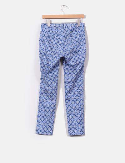 Pantalon de pinzas estampado mosaico