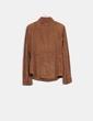 Camisa marrón  de ante Massimo Dutti
