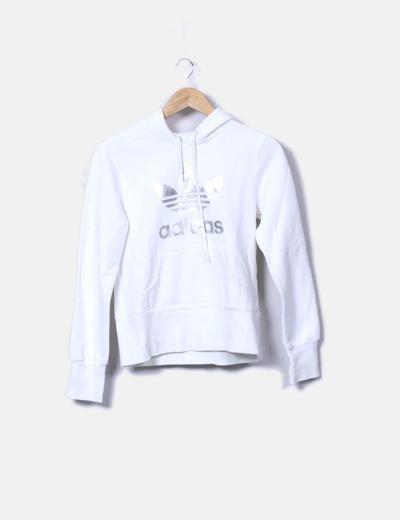 Blanca Print Print Sudadera Adidas Adidas Blanca Sudadera SUVpqzM