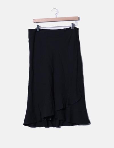 Falda negra con volantes Miguel Gil