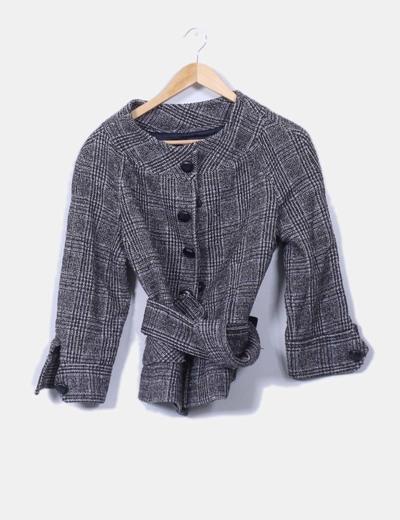 Chaqueta tweed jaspeada Zara