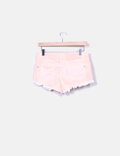 Short denim naranja ripped