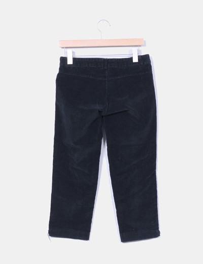 Pantalon pirata de pana negro