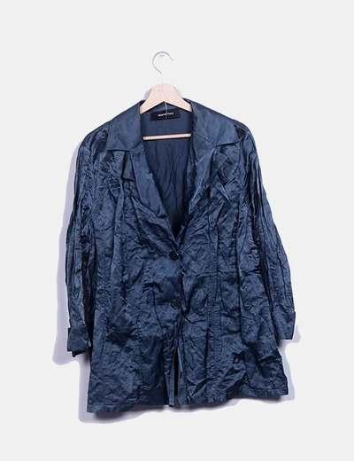Camisa satinada azul