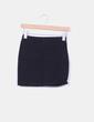 Mini falda negra elástica H&M
