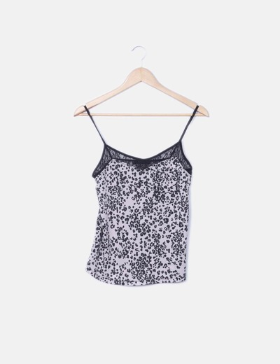 Camiseta tirantes animal print