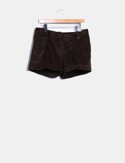 e196b120e9a4d Massimo Dutti Short marron en velours côtelé (réduction 97%) - Micolet