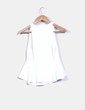 Top blanco peplum texturizado Zara