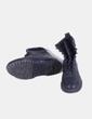 Bota negra de media caña con cordones Pull&Bear