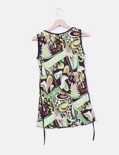 Camiseta elastica estampado verde