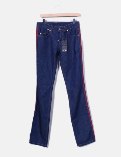 Iceberg Pantaloni di jeans con a righe laterali (sconto 71%) - Micolet d45fe58367e