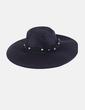 Sombrero negro tira con abalorios Stradivarius