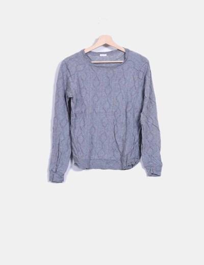 Suéter gris texturizado Oysho
