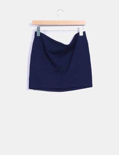 Falda mini azul marino