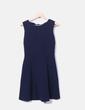 Vestido azul marino detalle lazos Zara