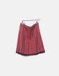 Falda roja de cuadros plisada Pinko