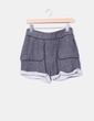Shorts felpa gris  dobladillo Mango