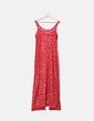 Vestido maxi vermelho com alças Promod