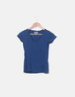 Camiseta azul cuello pico For Us