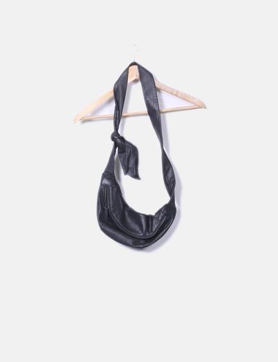 Similicuir fanny pack noir Zara