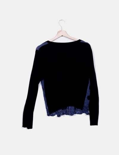 Cardigan tricot bicolor