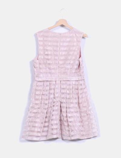 Vestido rosa palo irisado