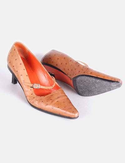 Zapatos marrones piel con topos