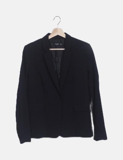 Blazer negra manga botones