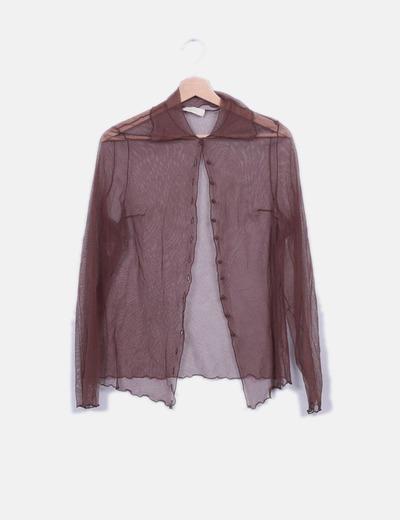 Camisa marrón de gasa Etxart & Panno
