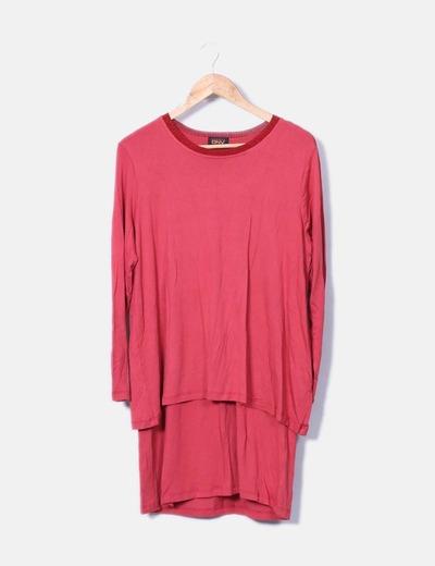 Vestido rojo asimétrico Daneva
