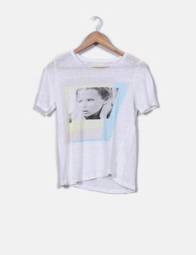 Top básico  print  Zara