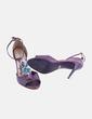 Zapatos irisados morados con strass Carmen Steffens