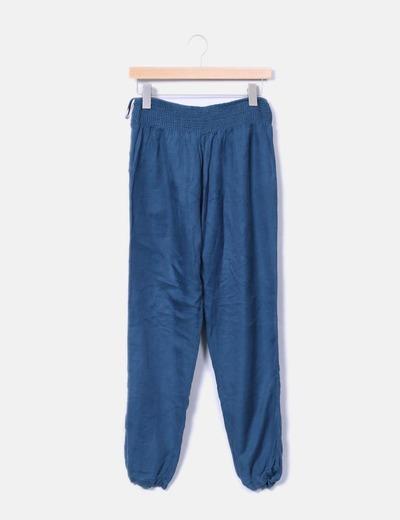Pantalón baggy de tela Suiteblanco