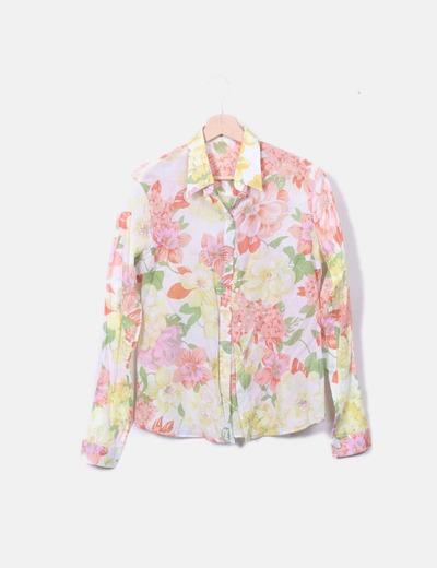 Camisa semitransparente floral