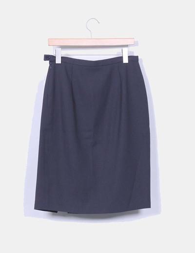 Falda midi gris marengo