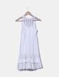Vestido crudo combinado con puntilla NoName
