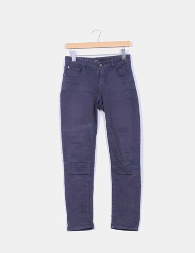 Pantalón elástico azul marino  Massimo Dutti