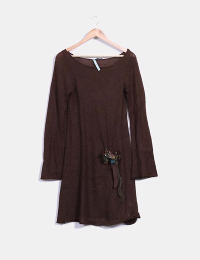 Vestido tricot marrón  Hoss Intropia